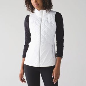 Lululemon Down For A Run Vest White Size 10